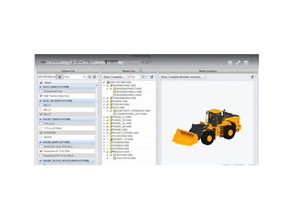 PTC Creo Options Modeler Extension